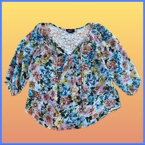 🦋 Floral Butterfly Blouse 🦋